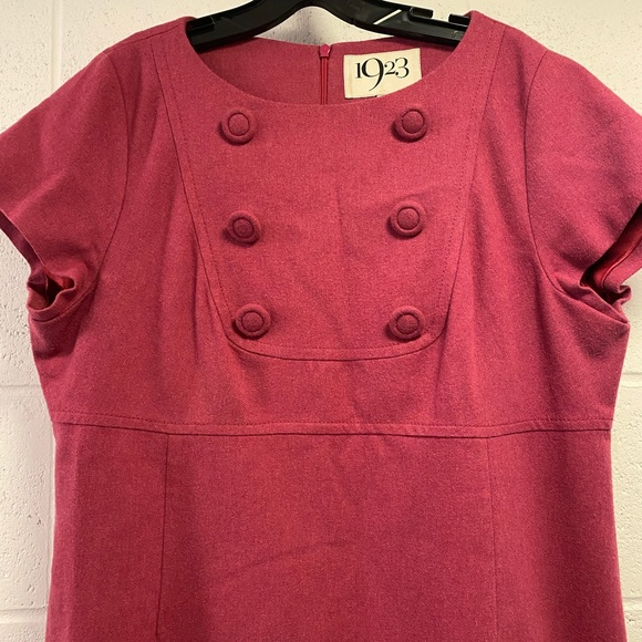 Wallis Pink 70s shift will dress with buttons